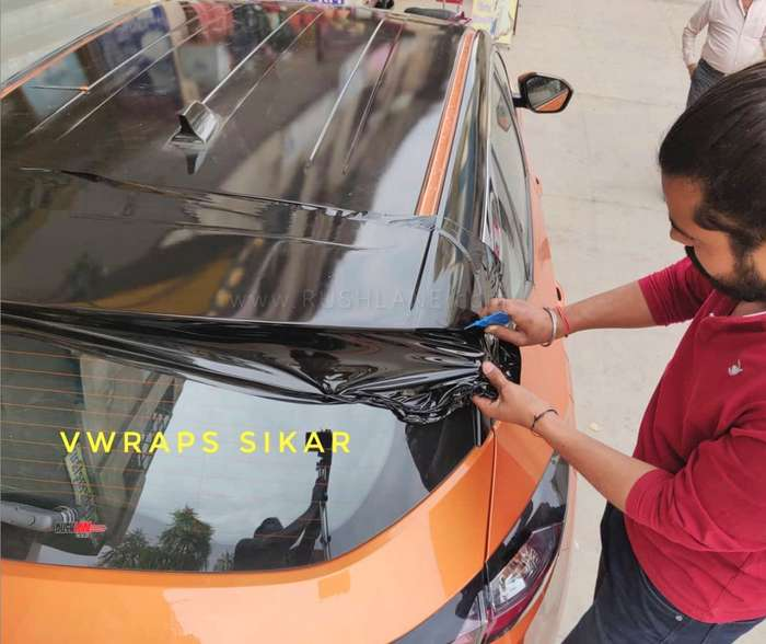 Tata Harrier Roof Gets Vinyl Wrap Done For Rs 7k Video