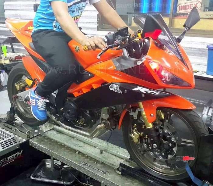 Yamaha R15 modified with turbocharger hits 180 km/h on dyno – Video - RushLane