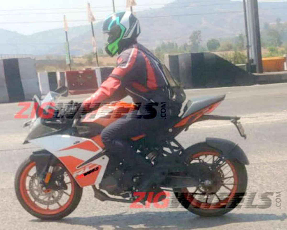 Ktm Rc 125 Spied Testing In India To Take On Yamaha R15 V3 Upon Launch