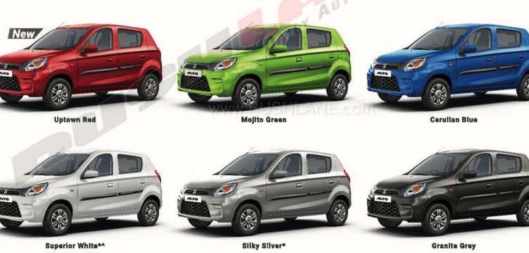 2019 Maruti Alto variant, features, colours detailed via