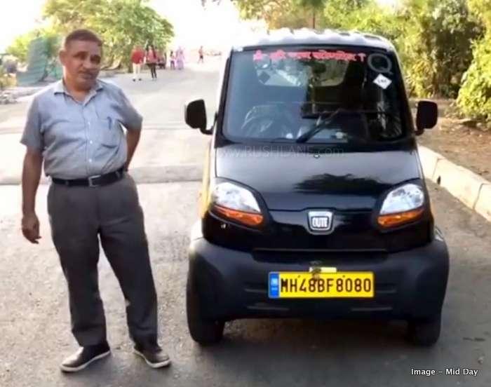 Bajaj Qute rickshaw 1st