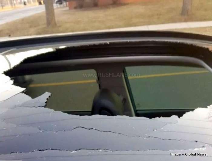 Hyundai Tucson sunroof shatters