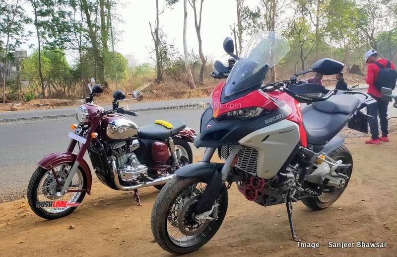 Jawa and Ducati Multistrada