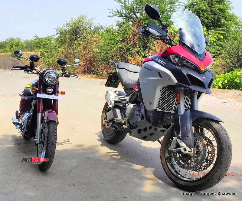 Ducati Multistrada and Jawa