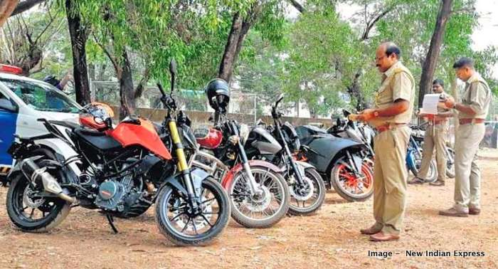 Kerala Police confiscate modified bikes from Auto Show in