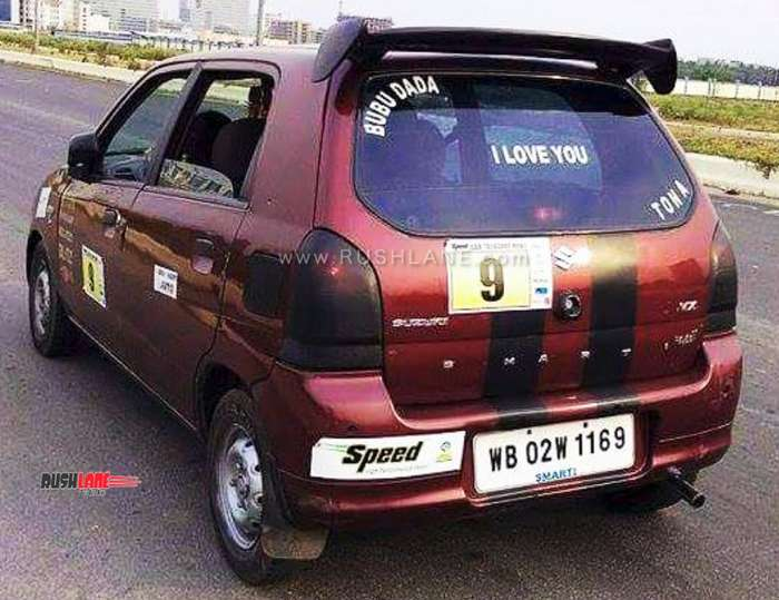 maruti alto 800 modified at a cost of rs 3 5 lakhs  does 200 kmph