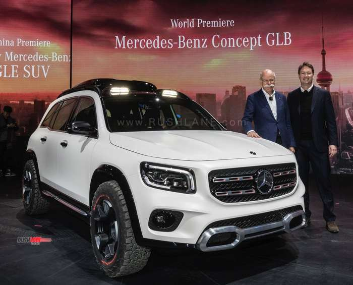 mercedes glb concept 7 seater compact suv debuts based on a class platform. Black Bedroom Furniture Sets. Home Design Ideas