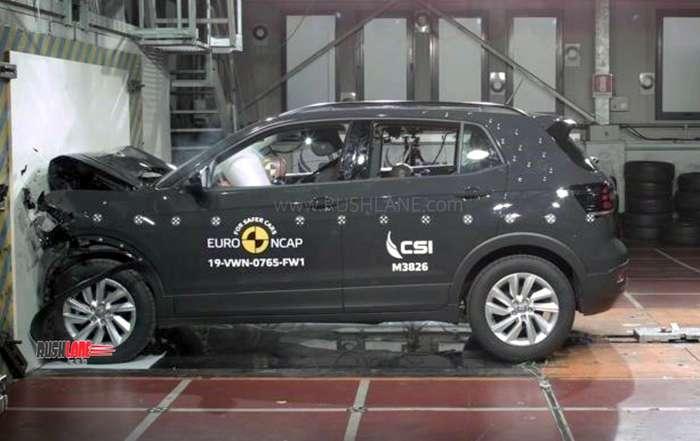 Volkswagen T Cross crash test