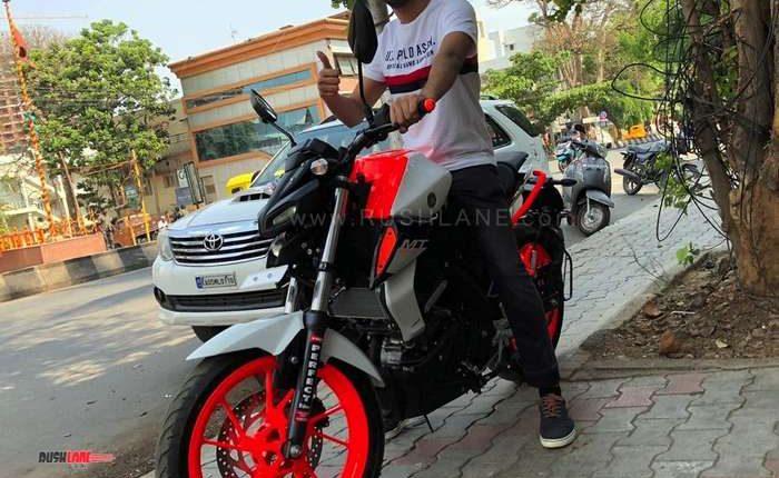 Yamaha Mt15 Gets Ktm Duke Inspired Mod Job At Rs 25k Rto