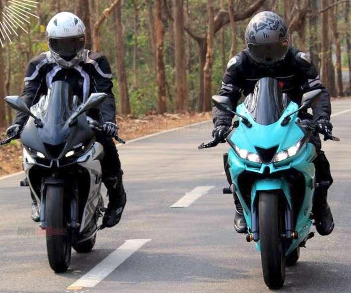 Yamaha R15 V3 modified into a proper race machine by