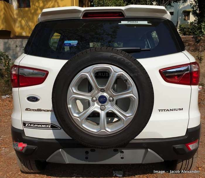2019 Ford EcoSport Thunder Edition Spied At Dealer