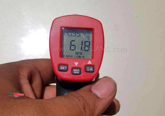 Car heat test cow dung