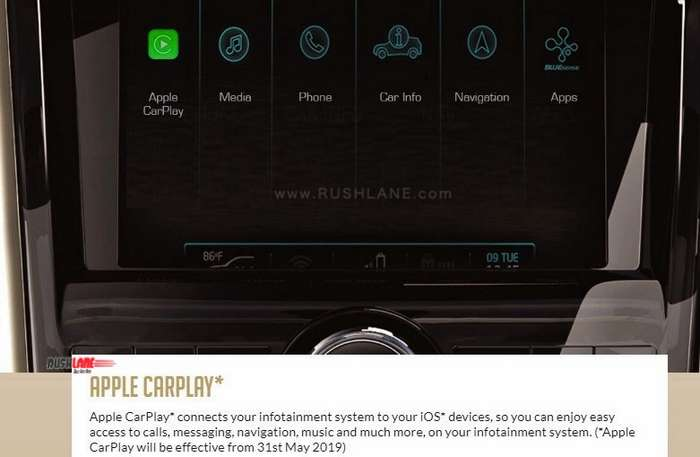 Mahindra XUV500 to get Apple CarPlay this month - Only on top trim