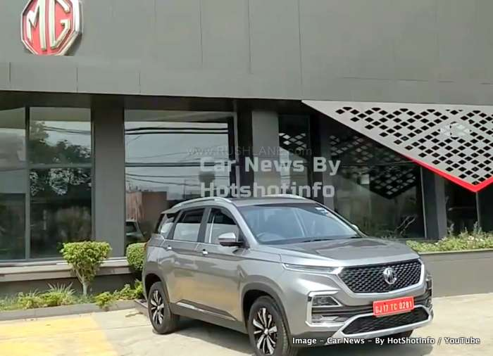 Used Car Dealership >> MG Hector arrives at dealership - First walkaround video ...