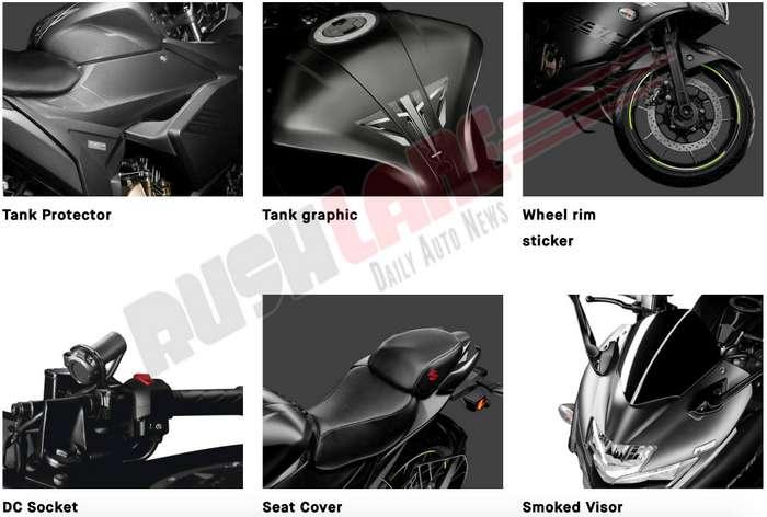 Suzuki Gixxer accessories