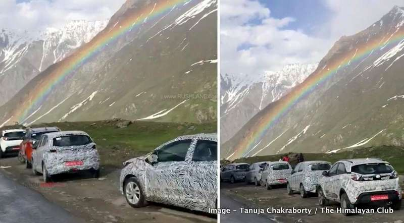 Tata cars spied rainbow