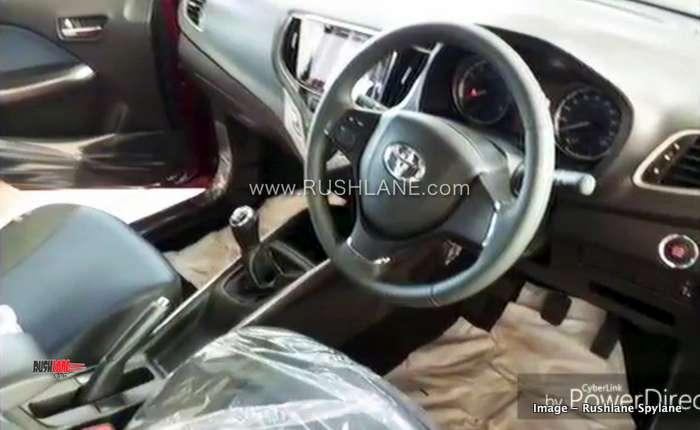 Toyota Glanza Interiors Spied