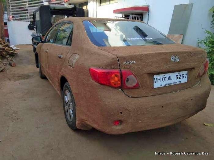 Toyota Corolla cow dung coating