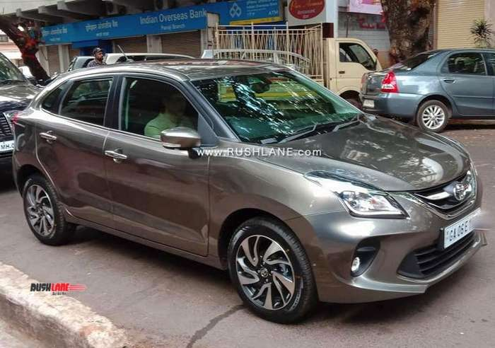 Toyota Glanza Spied During Tvc Shoot In Goa Video