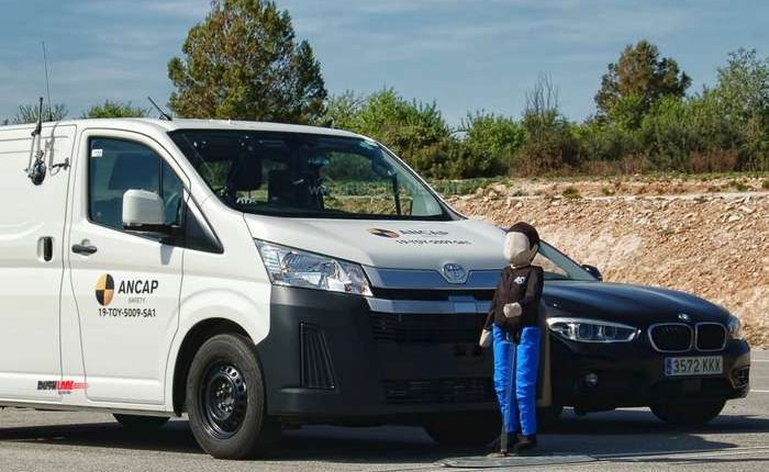 Toyota HiAce crash test safety rating