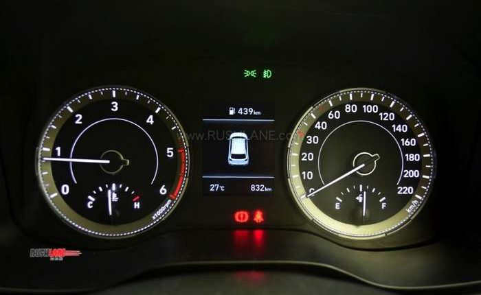 Hyundai Venue speedometer