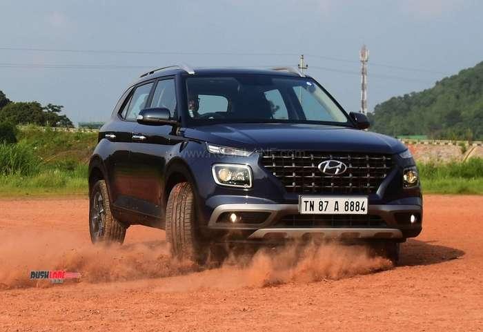 Hyundai Venue driving