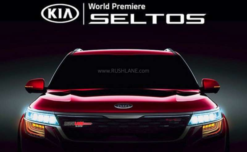 Kia Seltos front officially revealed in new video – Wine Red colour - RushLane