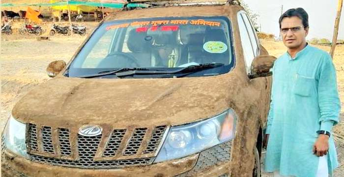 Mahindra XUV500 cooling system cow dung