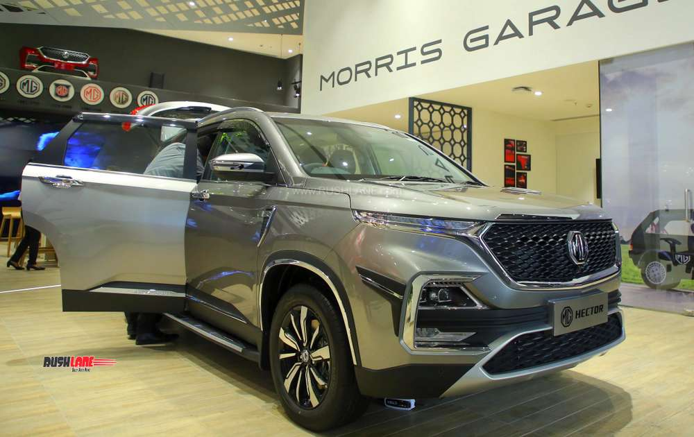 MG Hector showroom
