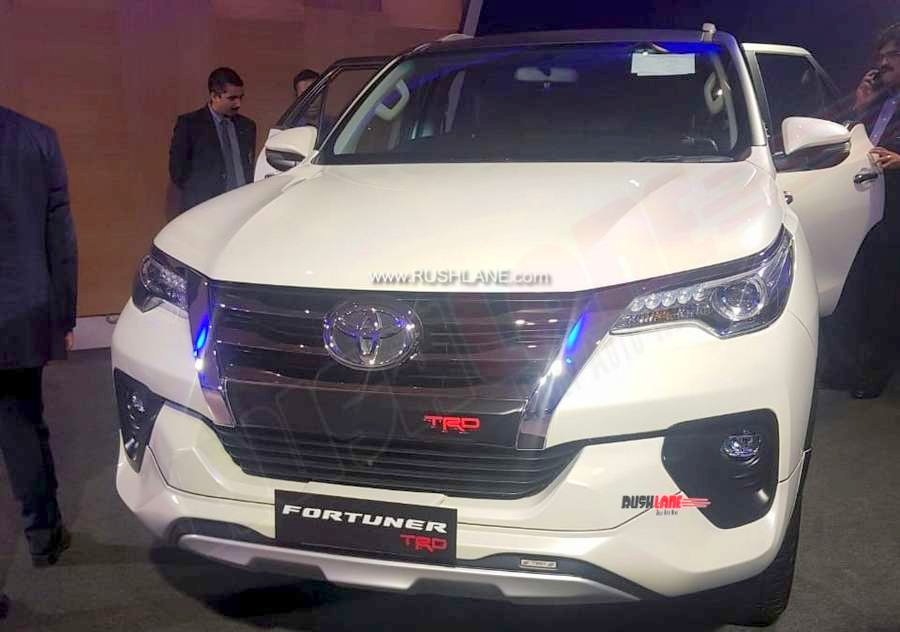 New Toyota Fortuner TRD Sportivo showcased to dealers in India.