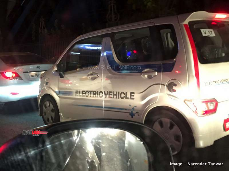 Maruti WagonR Electric on test in Delhi.