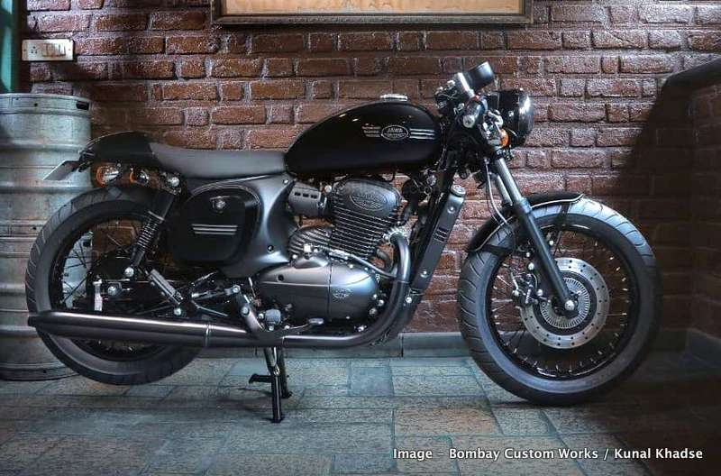 New Engine Cost >> Jawa 42 given all black treatment like Royal Enfield ...