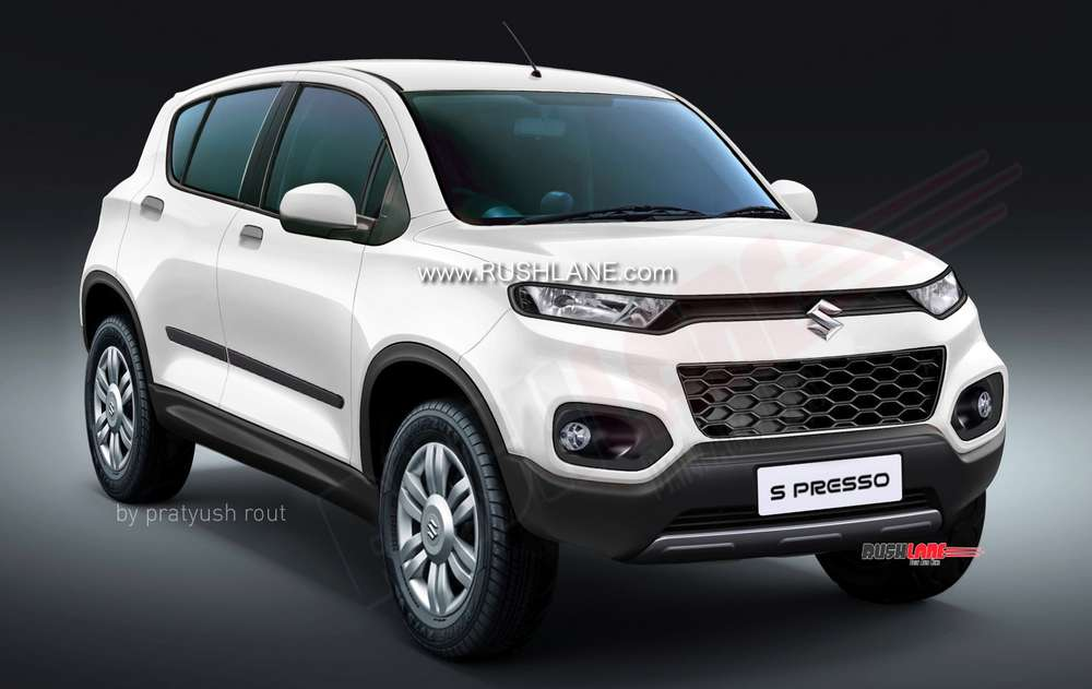 Maruti S-Presso small SUV style car render based on spy shots