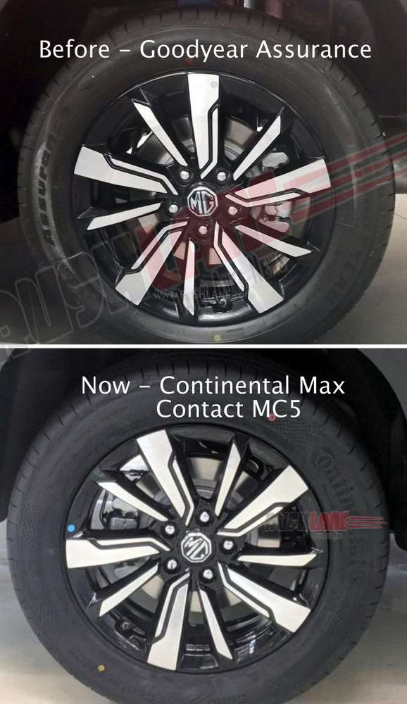 MG Hector tyre upgrade