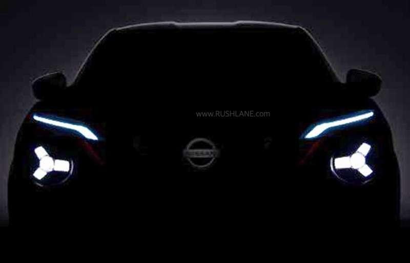 2020 Nissan Juke Suv Teased Reminds Of Tata Harrier Front