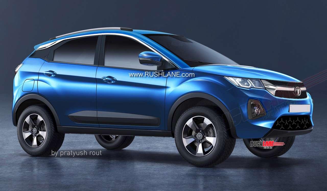 Digital render of 2020 Tata Nexon electric