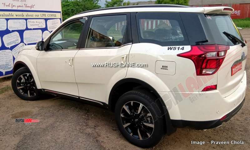 Current XUV500 BS6 on test. Launch this month.