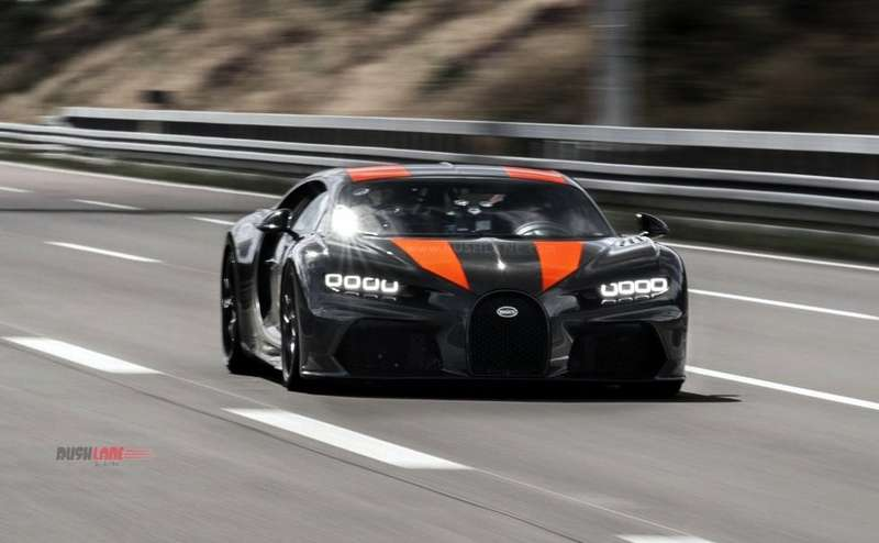 Bugatti Chiron test car top speed record of 490 kmph - Video