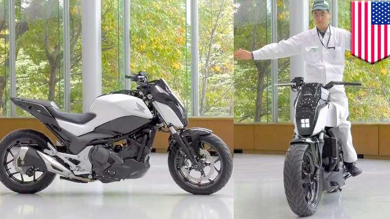Honda self balancing motorcycle concept
