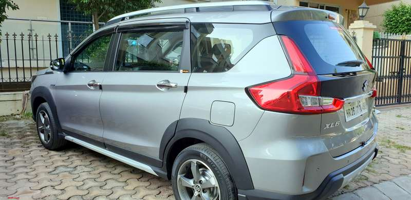 Red White And Blue Auto Sales >> Maruti XL6 modified with 16 inch alloys, wider tyres - Details