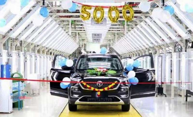 MG Hector 5k production