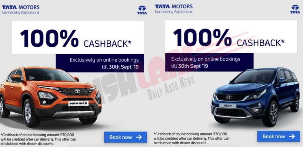 Tata Harrier, Hexa cashback offer.