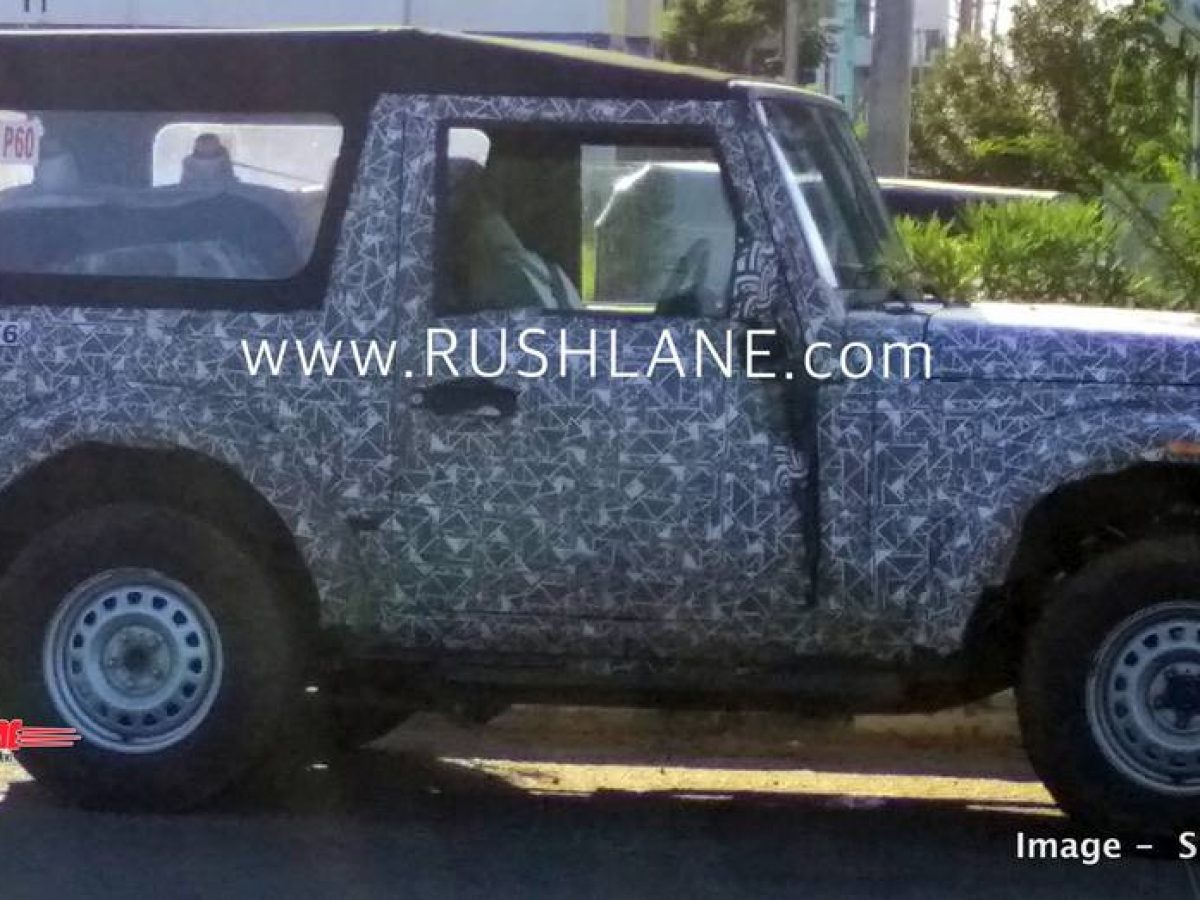 2020 Mahindra Thar Low Transfer 4x4 Gear Lever Spied