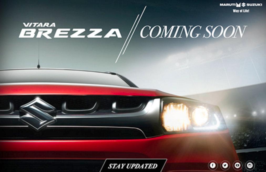 Maruti Brezza facelift teaser