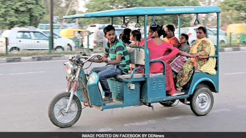 Electric rickshaw India