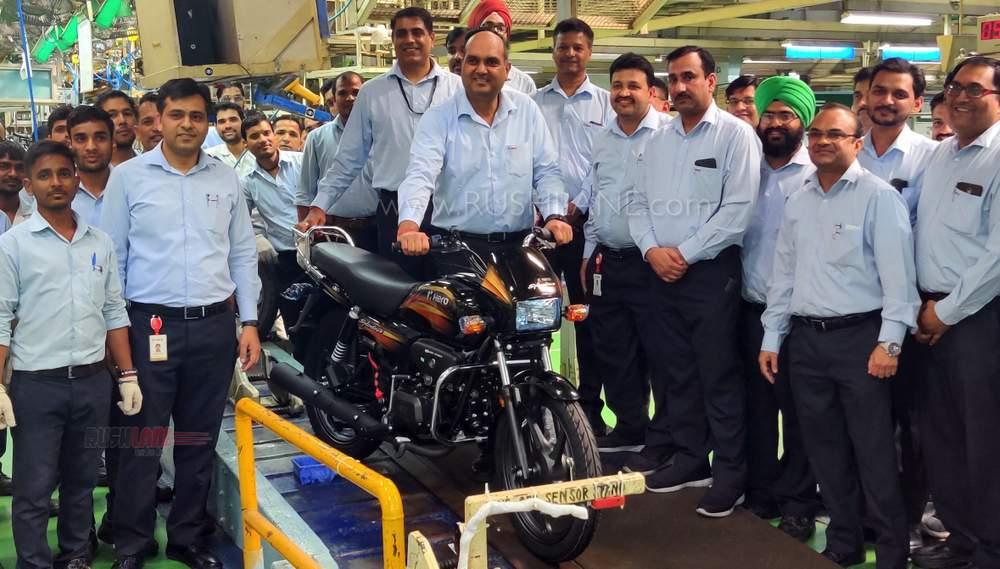 Hero splendor Haridwar production