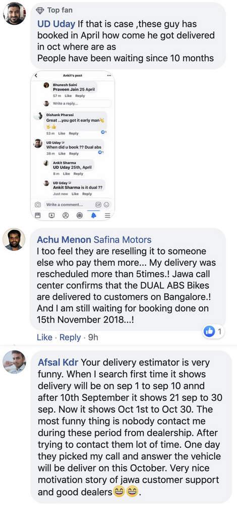 Jawa cancels booking