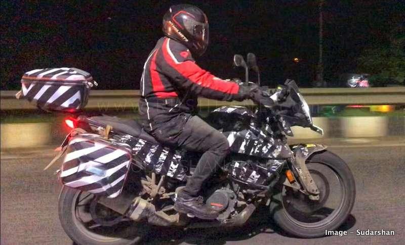 2020 KTM 390 Adventure night testing