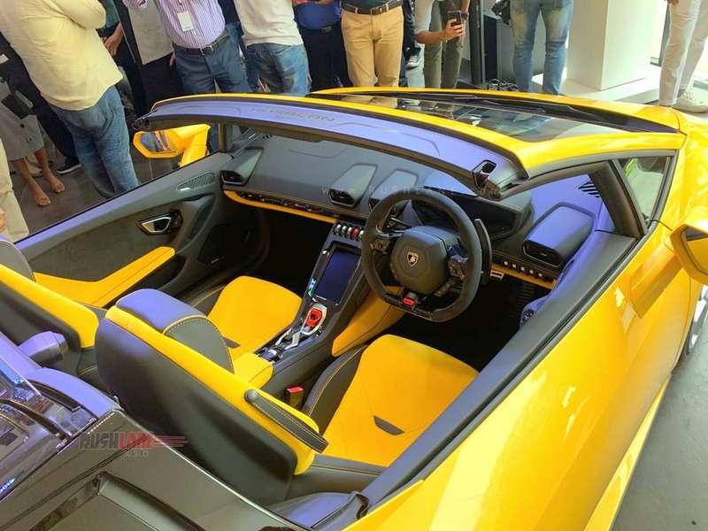2019 Lamborghini Huracan Evo Spyder India