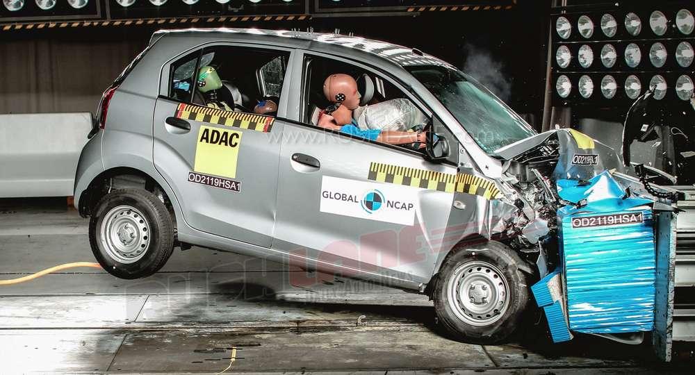 Hyundai Santro safety crash test